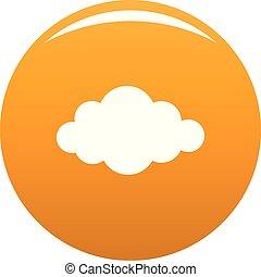 Cloud in sky icon vector orange