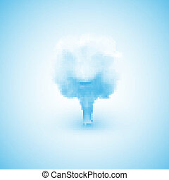 Cloud in the form of a tree, creative illustration