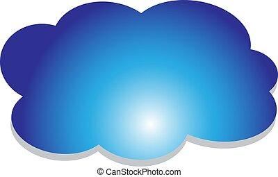 cloud in the sky vector illustration