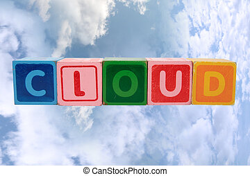 cloud in toy block letters
