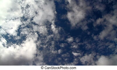 Cloud intersection - The clouds quickly fled in opposite...