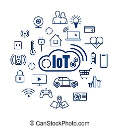 Cloud IOT Internet of Things concept