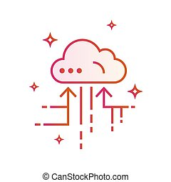 Cloud IOT Internet of Things Icon. Gradient vector illustration isolated on white background.