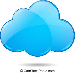 Cloud, Isolated On White Background With Gradient Mesh, ...