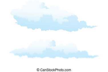 Cloud isolated on white.
