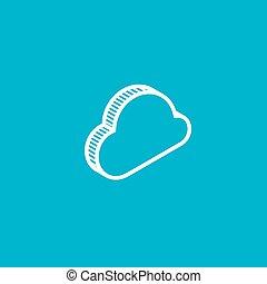 cloud. isometric vector icon