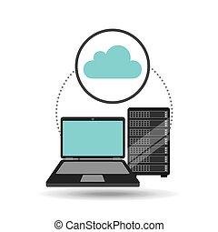 cloud laptop data server