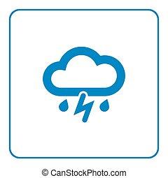 Cloud lightning rain icon