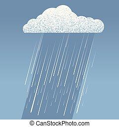 cloud., lluvia