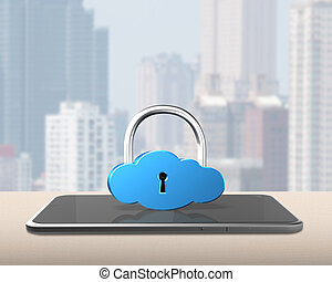 Cloud lock with smart tablet