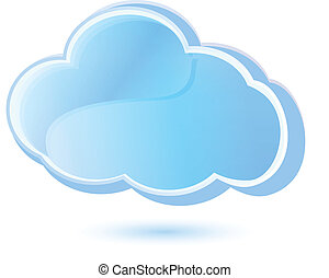 cloud logo apps background icon vector