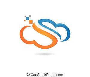 Cloud Logo Template vector icon