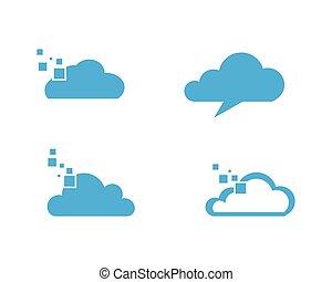 Cloud logo template vector