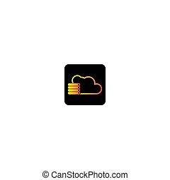 Cloud logo vector icon