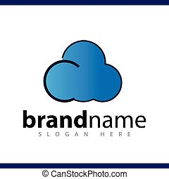 cloud logo vector template