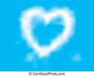 cloud loving-heart - cloud loving heart background