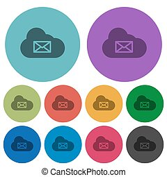 Cloud mail system color darker flat icons