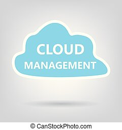 cloud management concept