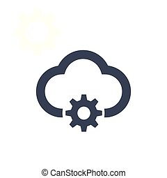 Cloud management icon isolated on clean background. Vector illustration for your web mobile logo app UI design.