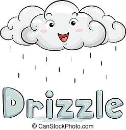 Cloud Mascot Drizzle Illustration