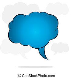 cloud message bubble