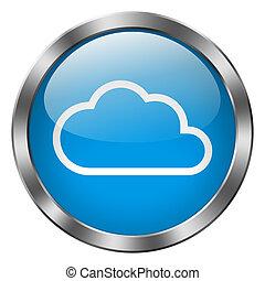 Cloud Metal Button
