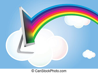 cloud monitor rainbow