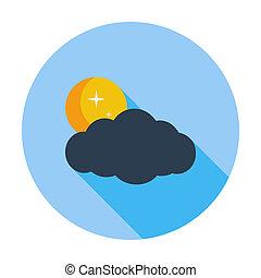 Cloud, moon, star