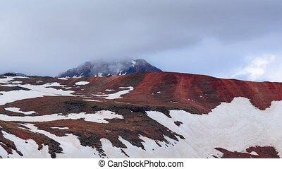 Cloud movement over the mountain Aragats, Armenia timelapse...
