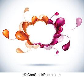 Cloud multicolor background.