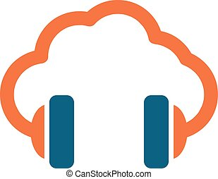 cloud music vector concept icon