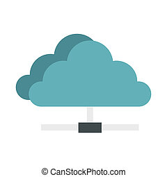 Cloud network connection icon, flat style
