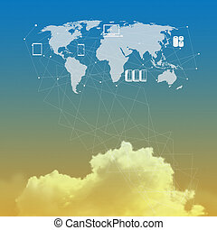 cloud network idea concept