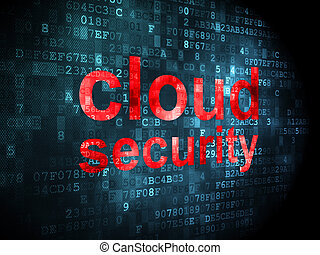 Cloud networking concept: Cloud Security on digital background