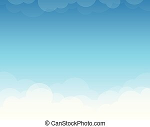 Cloud on blue sky landscape background