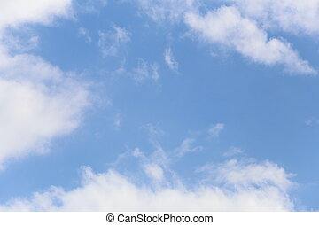 Cloud on blue sky.
