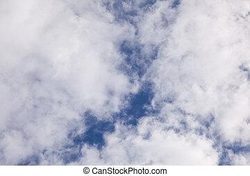 Cloud on blue sky