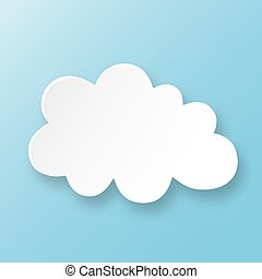 Cloud on blue sky with shadow