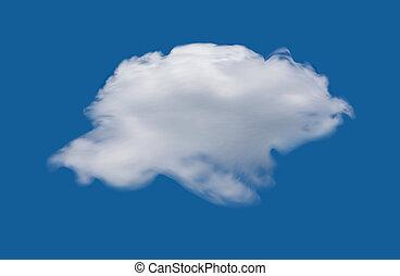 Cloud on the blue sky