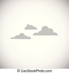 Cloud on white background