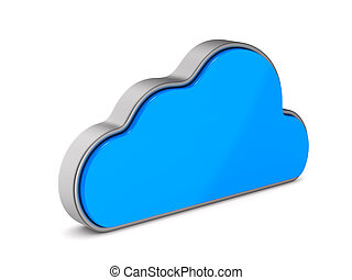 Cloud on white background. Isolated 3D illustration