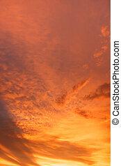 cloud orange color  on evening