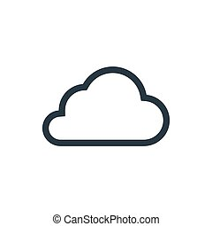 Cloud server outline icon on white background cloud outline voltagebd Choice Image