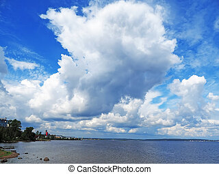 cloud over the lake