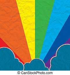 cloud paper craft and rainbow