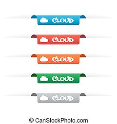 Cloud paper tag labels