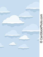 Cloud pattern on blue background.