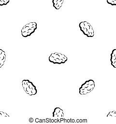 Cloud pattern seamless black