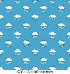 Cloud pattern seamless blue