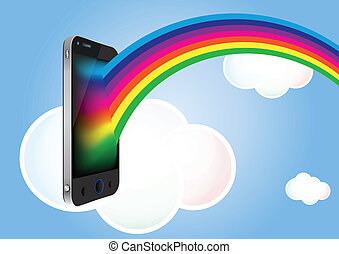 cloud phone rainbow